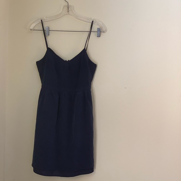 Blue silk Madewell dress with Pockets!!!!